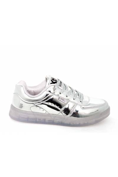 XTI 46372 PLATA Sport shoes for kids with lights and rechargable