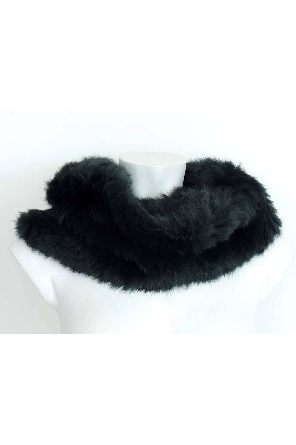 Bufanda de pelo cuello natural