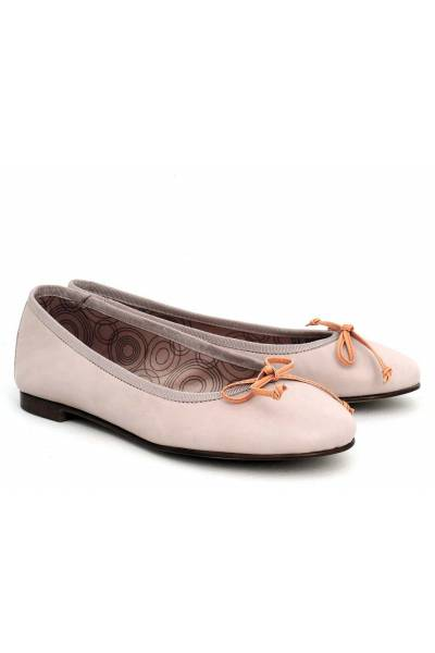 Zapato Bailarina De Piel 4351