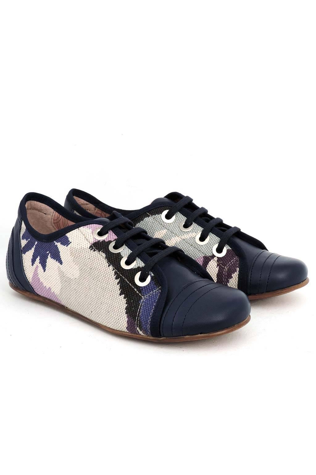 Zapato piel y tejido