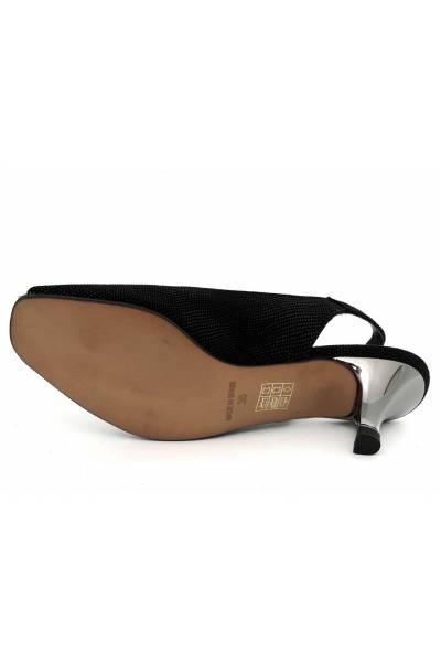 Zapato piel tipo peeptoe