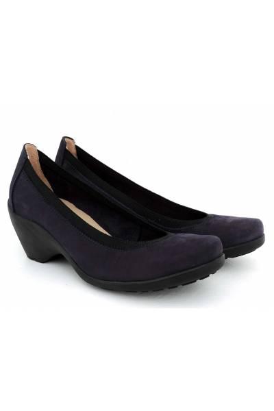 Zapato salón de piel