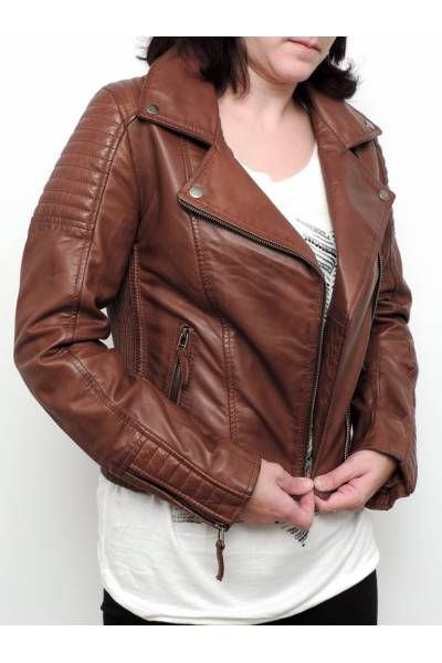 Leather jacket prime qualitieMDP SERENA WHISKY