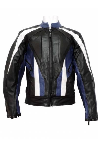 Mdp motor jacket 1001 black  White Blue
