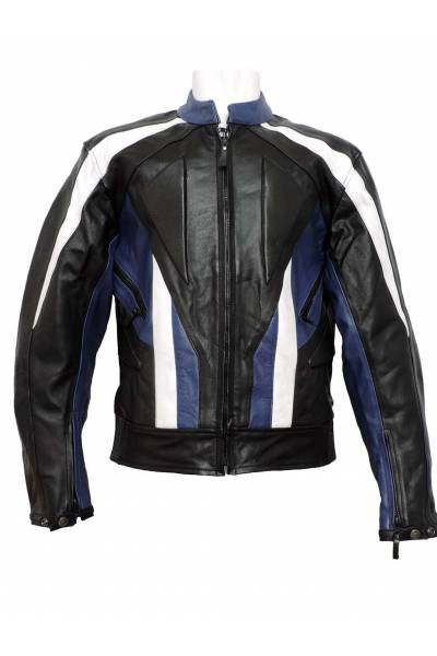 Mdp motor jacket 1001 black  White Blue
