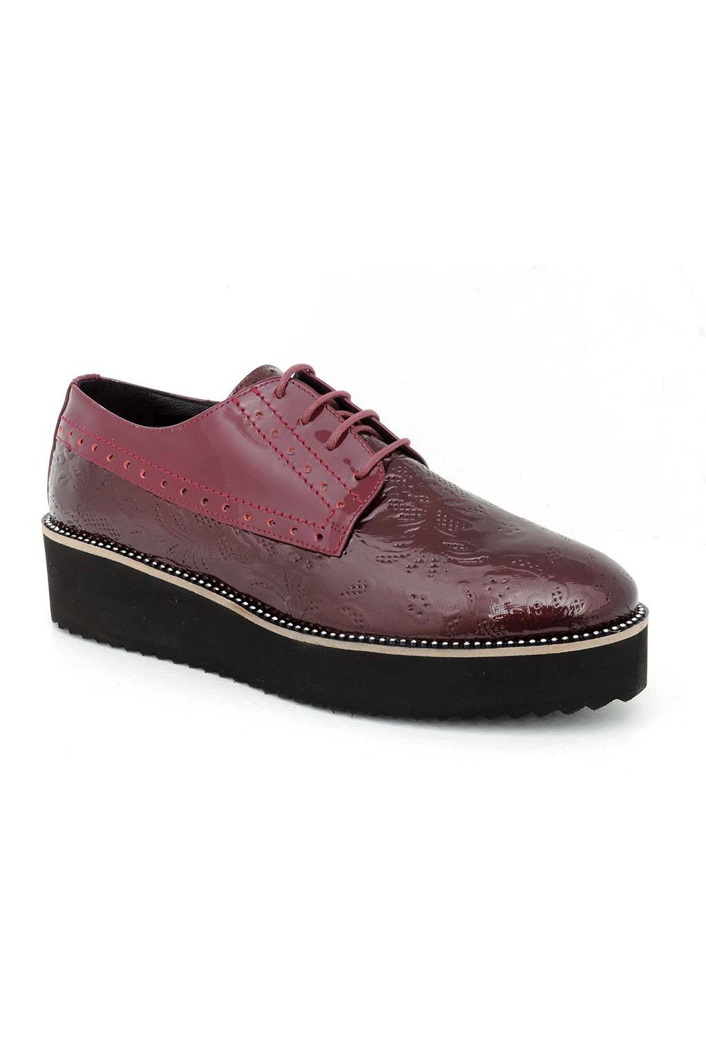 Zapato mujer 60417 burdeos