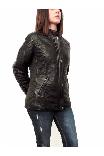 Deercraft Rose Black Leather jacket