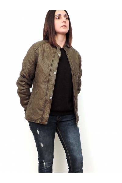 Deercraft Rose OLive Leather jacket