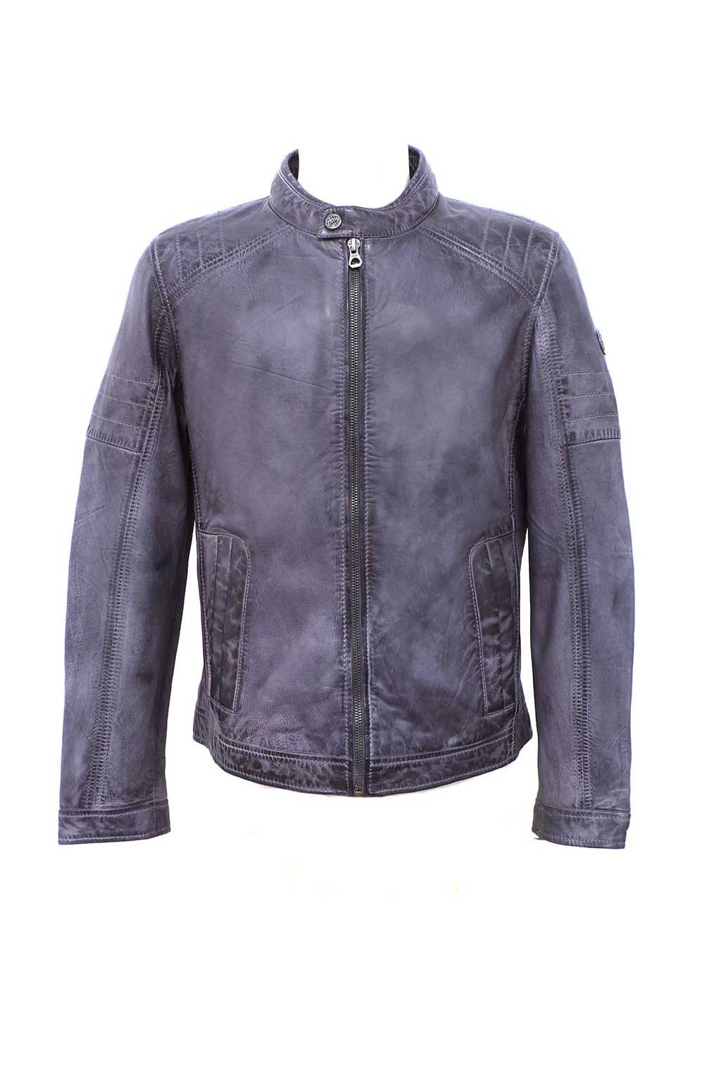adidas goodyear leather jacket