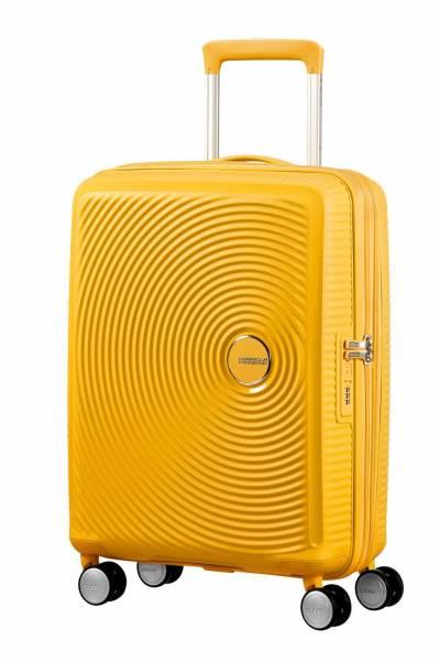American Tourister Soundbox spinner  golden yellow