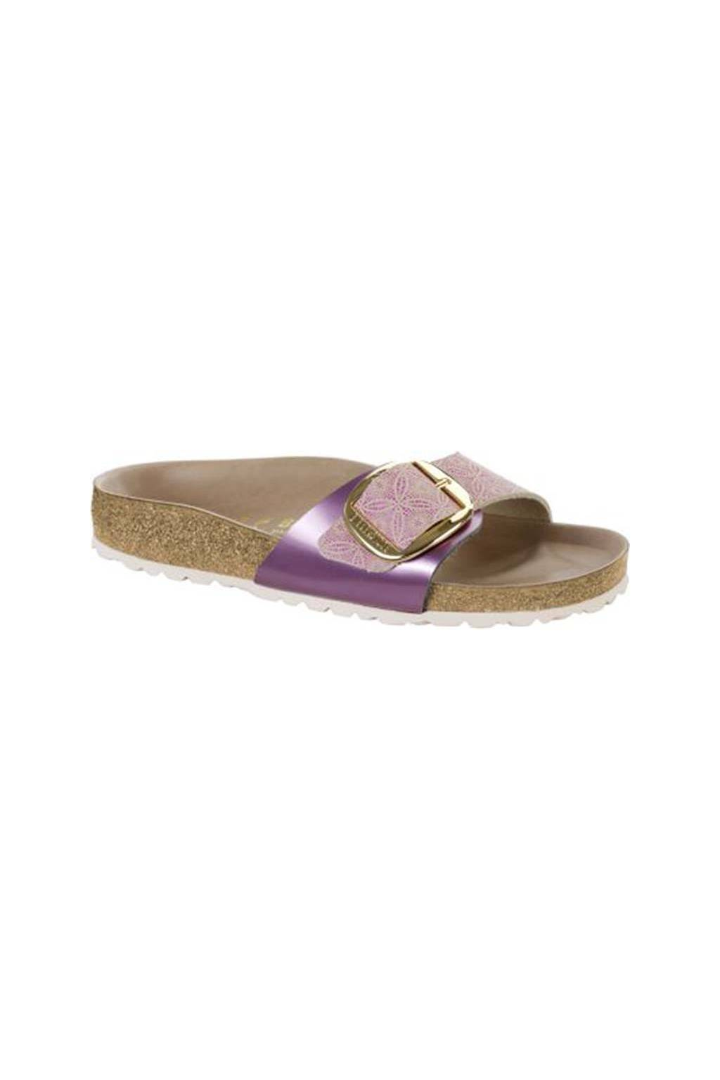 Birkenstock madrid big buckle rose