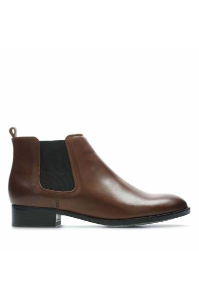 Clarks Netley Ella Tan Leather