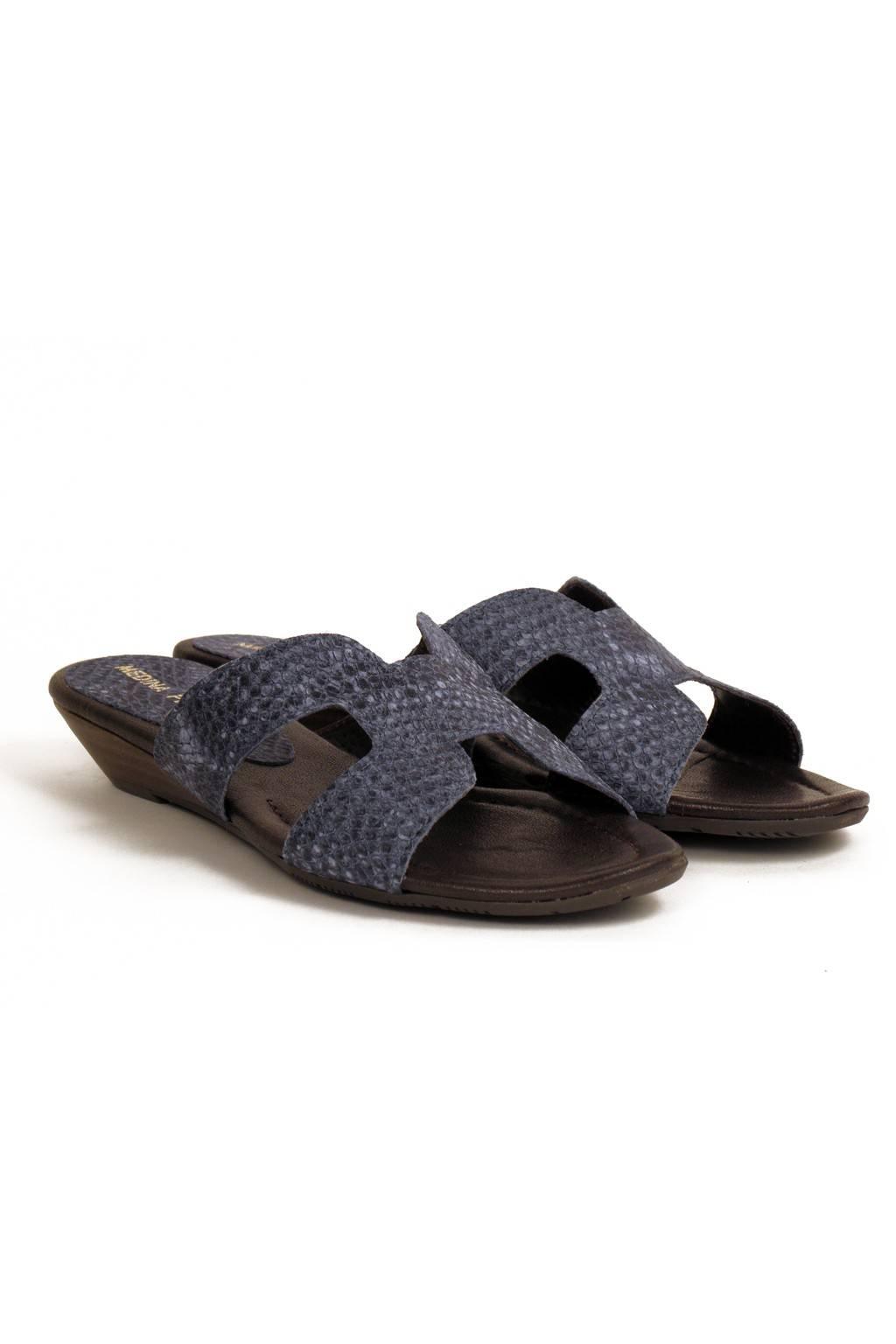 Sandalia piel trenzada