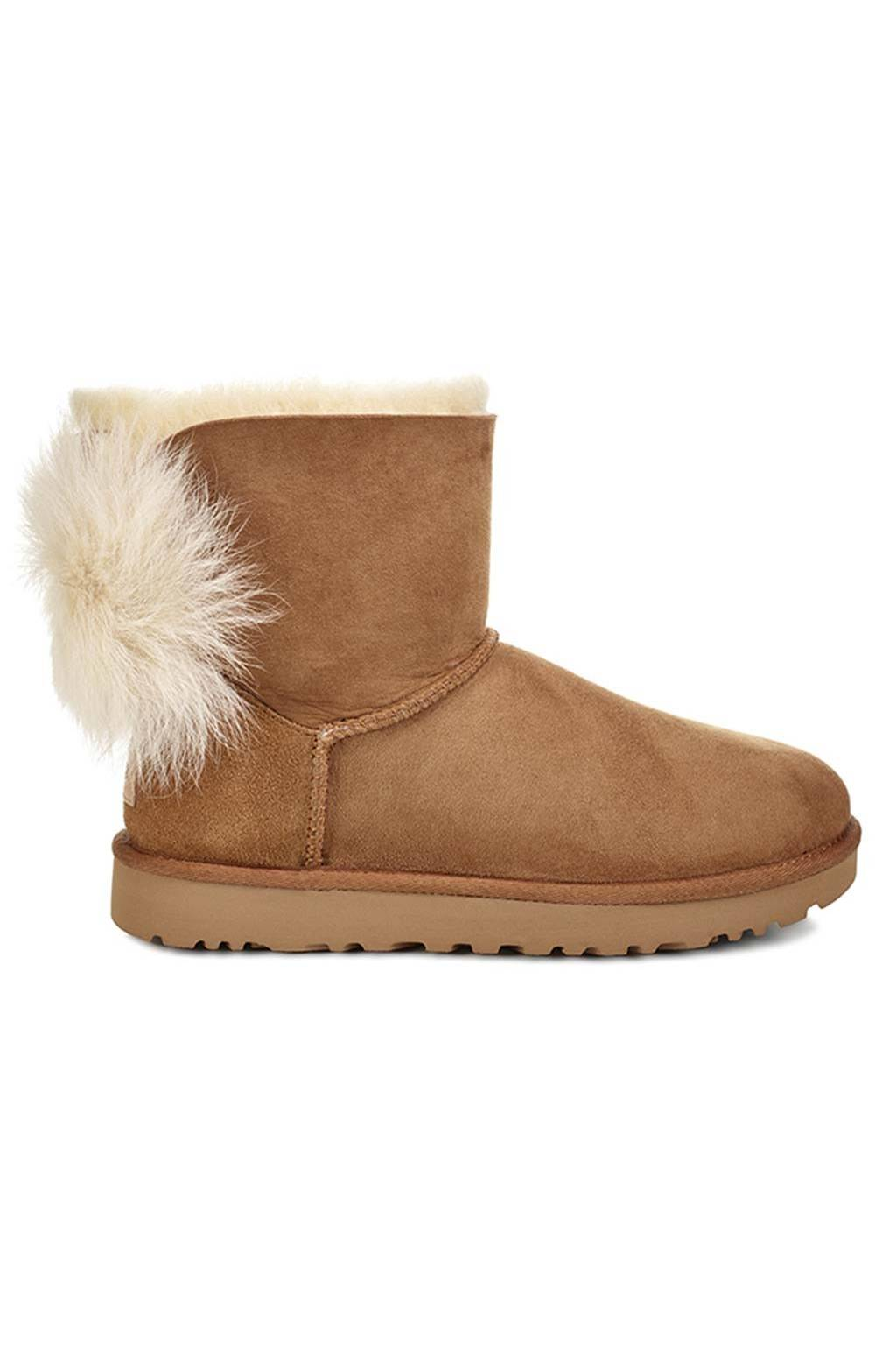 Ugg w Fluff Bow Mini Chestnut 1094967