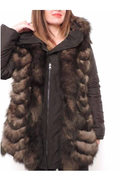 chaqueta medinapiel 39305 negro reversible