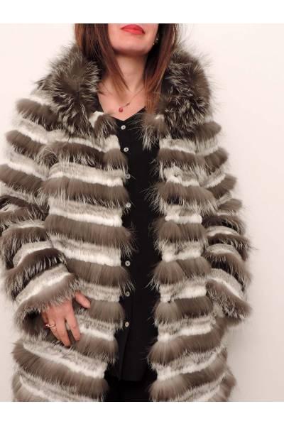 chaqueta medinapiel 38111 gris