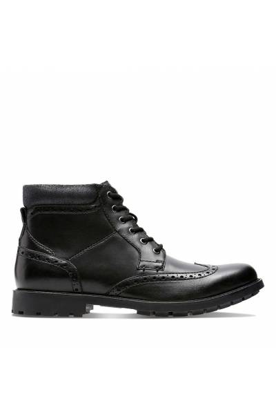 Clarks Curington Rise Black Smooth leather