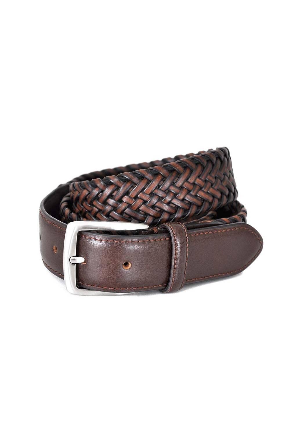 Cinturón trenzado cuero elástico