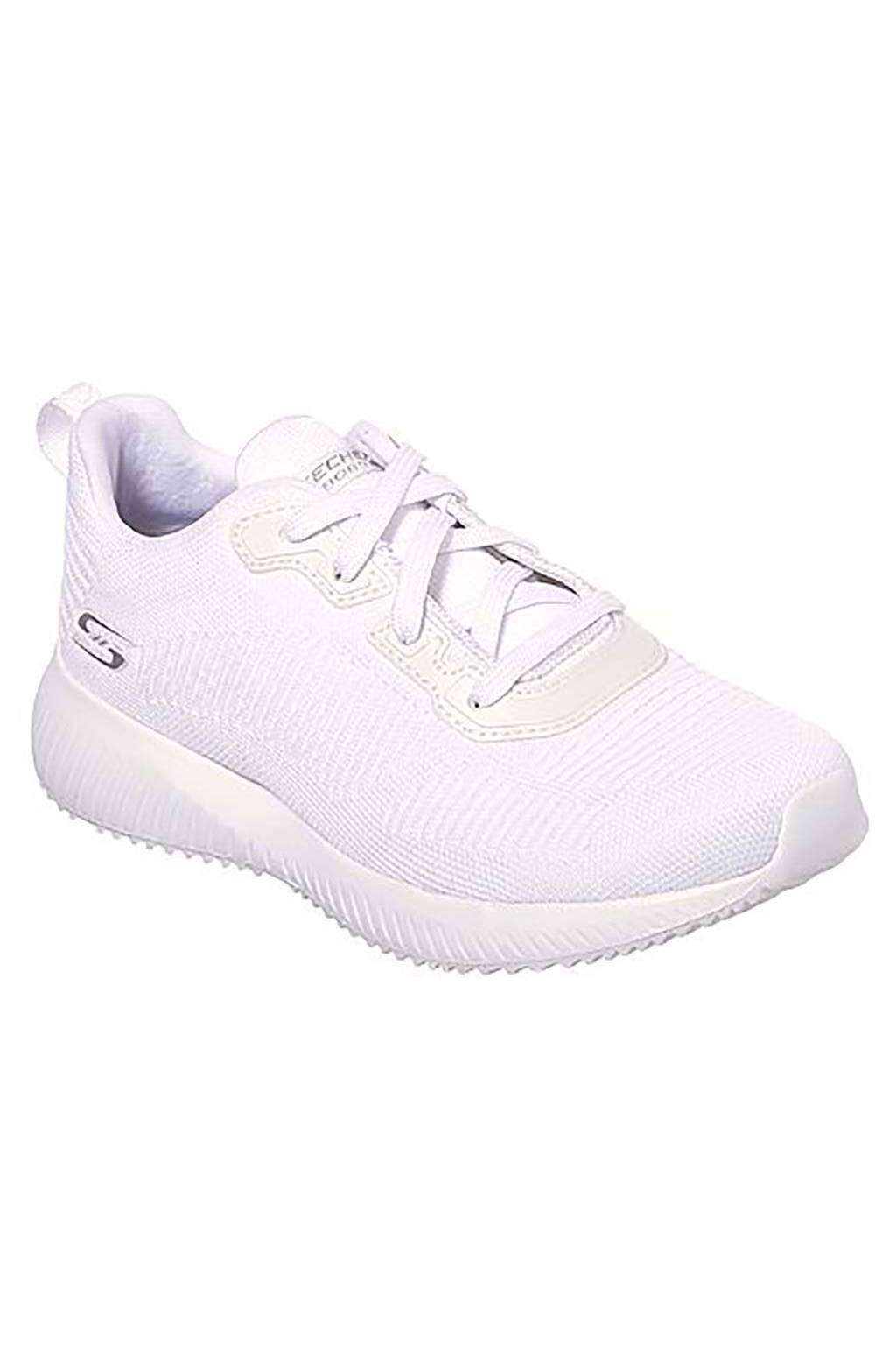 Chaussures femme Skechers Bobs Squad Tough Talk 32504 WHT medinapiel.es