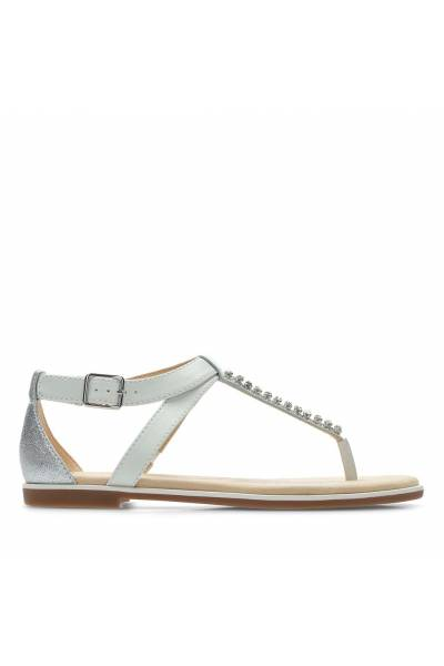 Clarks Bay Poppy White Silver