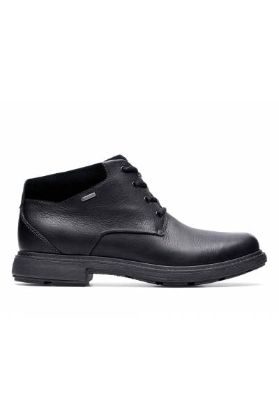 Clarks Un Tread Up Up GTX Black Leather