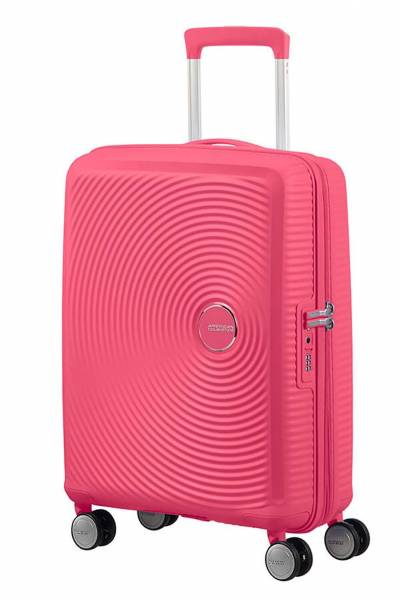 American Tourister Soundbox spinner hot Pink