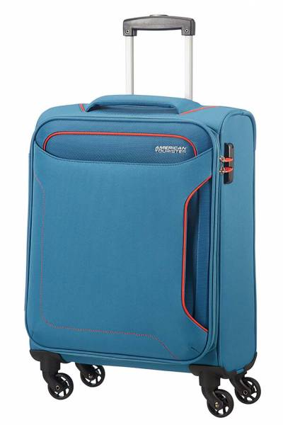 American Tourister holiday spinner denim blue
