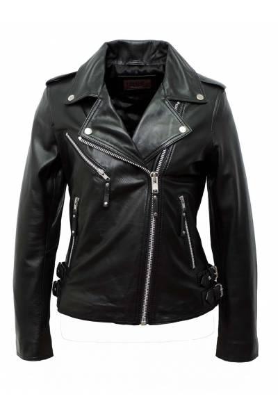 cazadora de cuero estilo perfecto tonny black