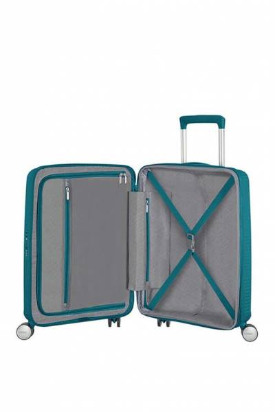 American Tourister Soundbox spinner Jade Green