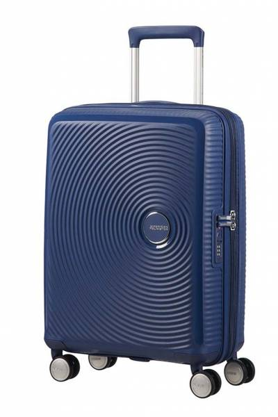 American Tourister Soundbox spinner Midnight Navy