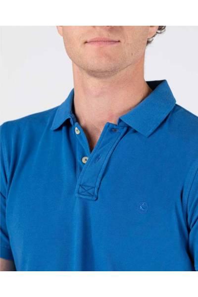 El Ganso polo pique short sleeve fluor gament dyed blue 200037