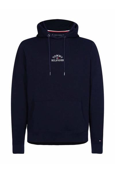 Tommy hilfiger sudadera basic embroidered hoody mw0mw13037