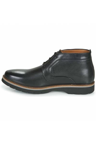 Clarks bayhill mid black smooth leather