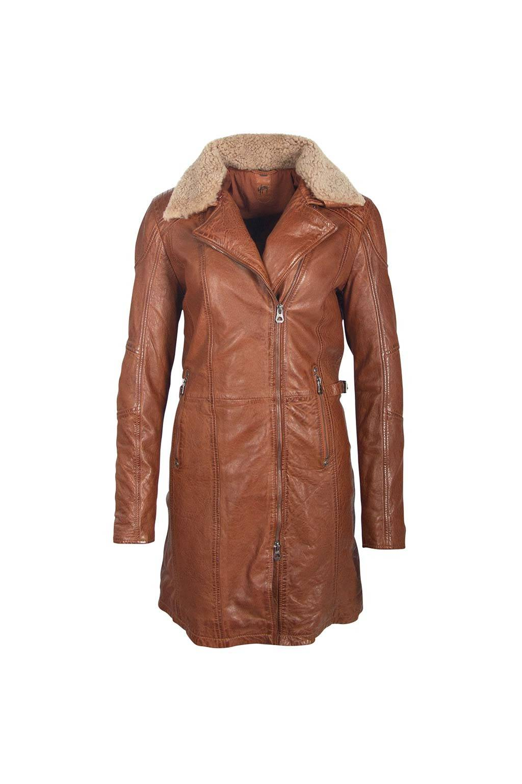 Gipsy girls  scylla black cognac terido veg short coat
