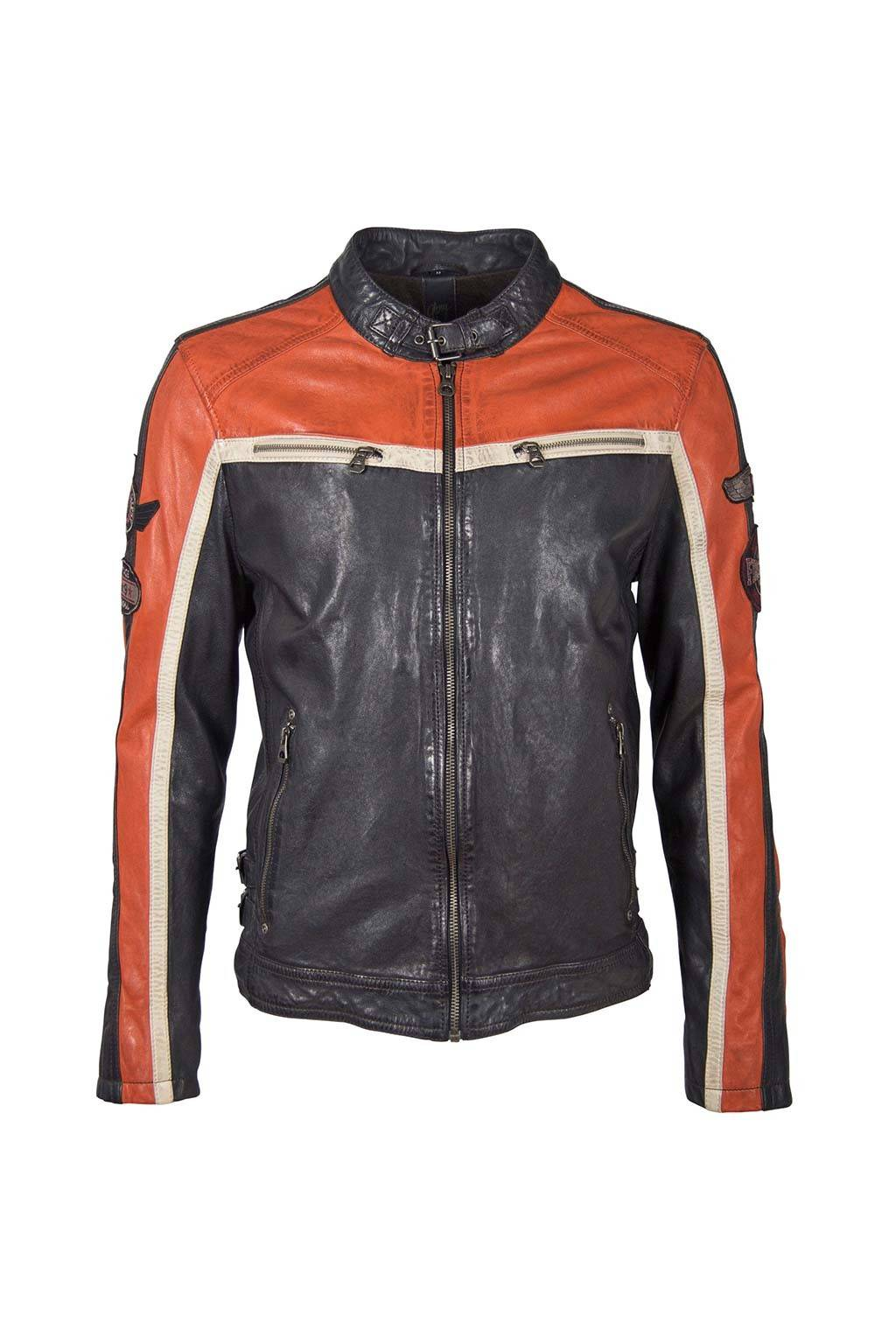 Gipsy myles lacav navy orange jacket