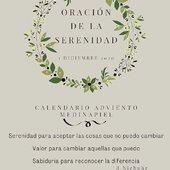✨1 Diciembre✨#calendarioadviento #cultivamosilusión #medinapielmesientabien #serenidad #valor #sabiduría