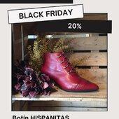 #botin #piel Hispanitas color guinda 139,99€ (-20%= 111,92€) #blackfriday2020  www.medinapiel.es