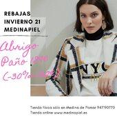 🛍Segundas Rebajas 🛍#abrigos30% #parkas #plumíferos #tiendafísica #medinadepomar #tiendaonline #envíosgratis a partir de 60€ www.medinapiel.es